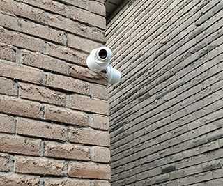 CCTV Installation with outdoor wiring in PVC conduits