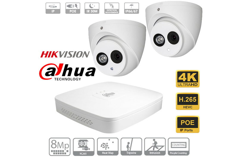 Hikvision and Dahua 4K