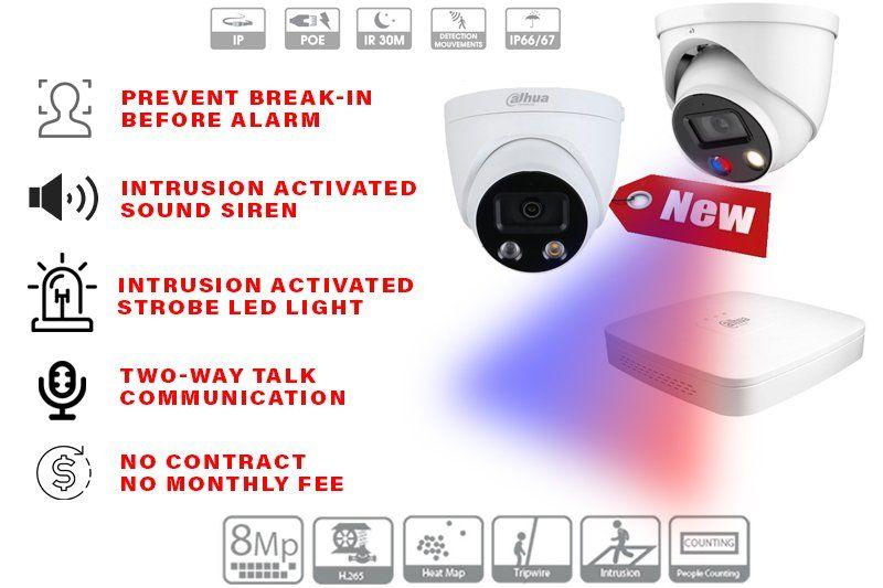 8 – 4 x PTZ HD Cameras Installed