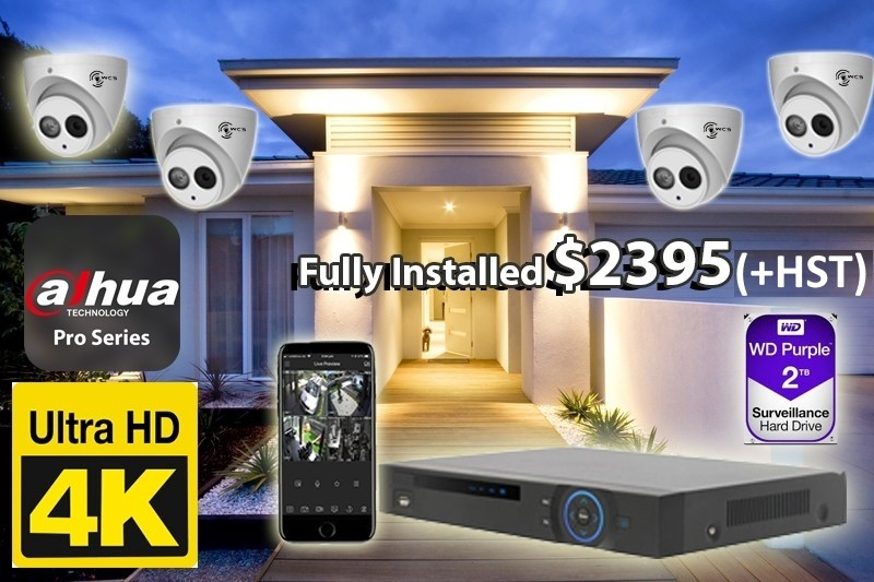 4 x 4K UltraHD Dahua Pro Series Cameras Installed *Home,small shop or office - $2,395 CAD