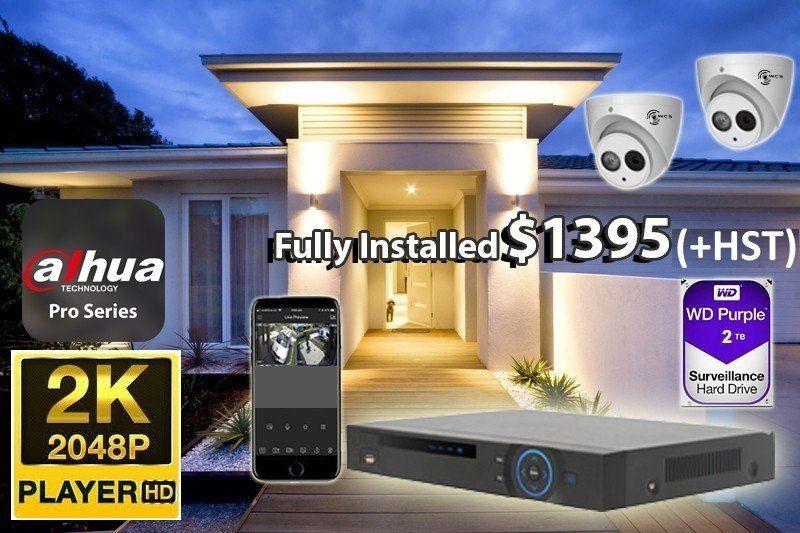 2 x 2K UtraHD Dahua Pro Series Cameras Installed *Home,small shop,office - $1,395 CAD