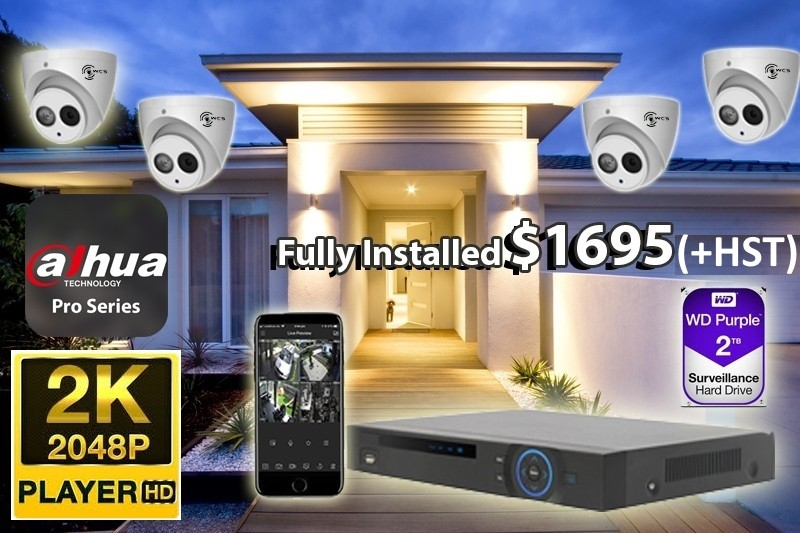 4 x 2K UltraHD Dahua Pro Series Cameras Installed *Home,small shop or office - $1,695 CAD