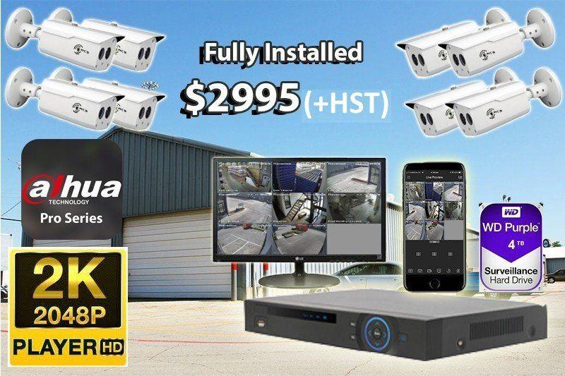 8 x 2K UltraHD Dahua Pro Series Cameras Installed *Small Warehouse or Factory - $2,995 CAD